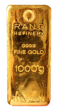 1 Kilogram Rand 9999 Gold Bar Lpm