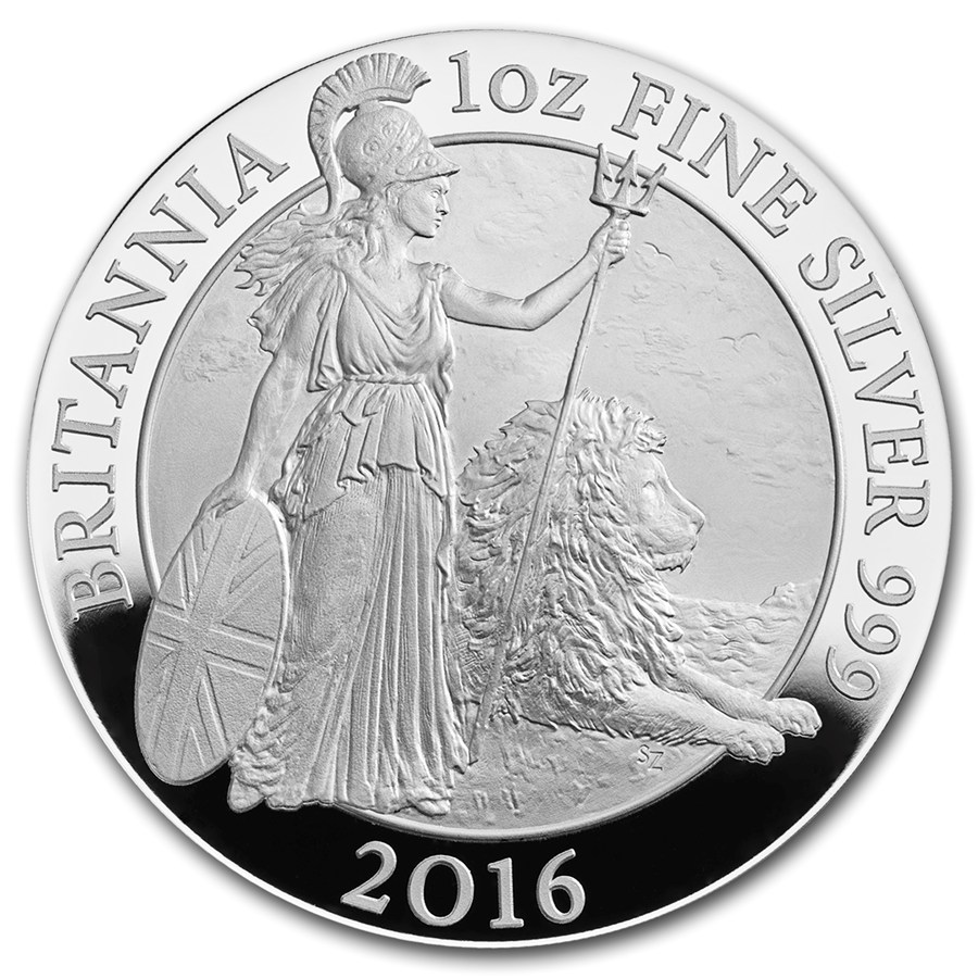 2016 1 Oz Britain Britannia 999 Silver Proof Coin Lpm