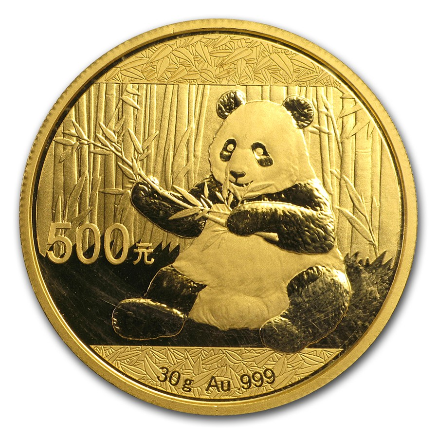 2017 30 Gram China Panda 999 Gold Coin Bu Lpm