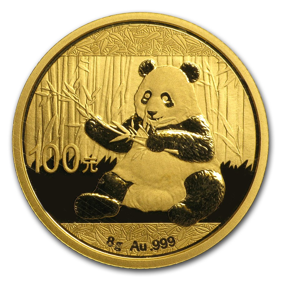 2017 8 Gram China Panda 999 Gold Coin Bu Lpm