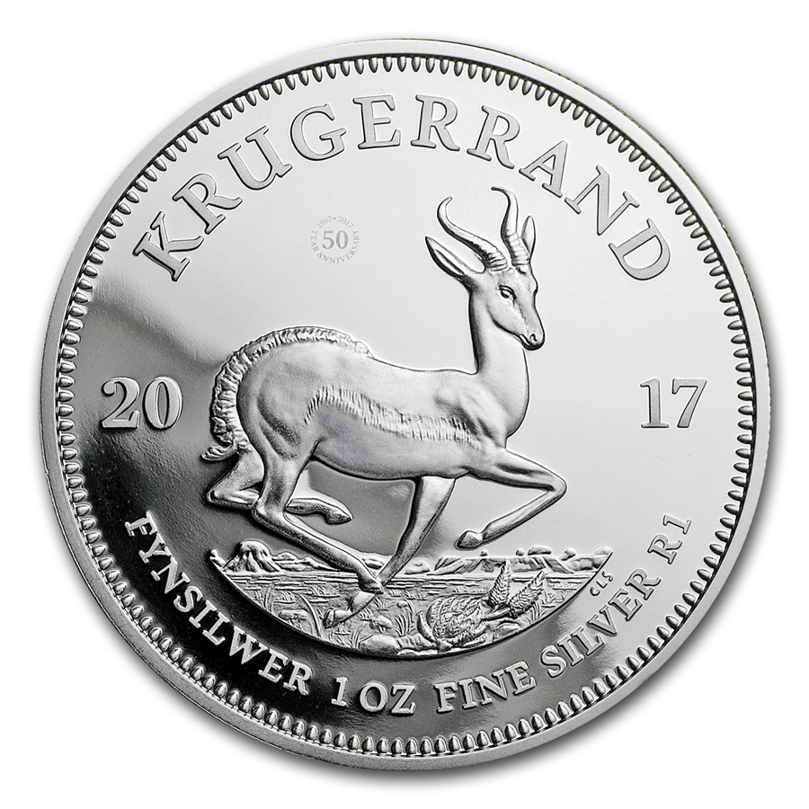 2017 1 Oz South Africa Krugerrand 999 Silver Proof Coin Lpm