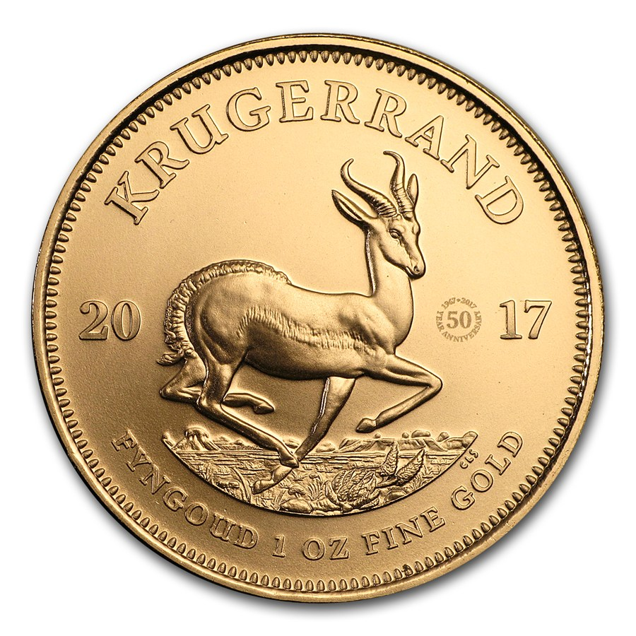 2017 1 Oz South African Krugerrand 50th Anniversary Privy