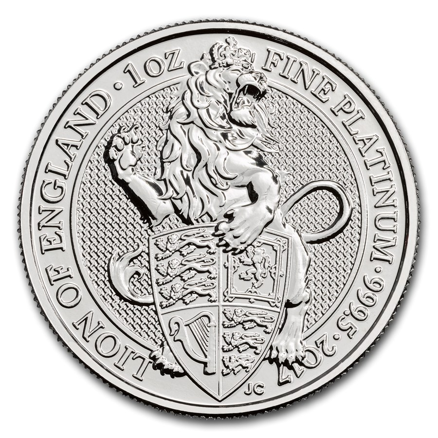 2017 1 Oz Britain Queen S Beasts The Lion Of England