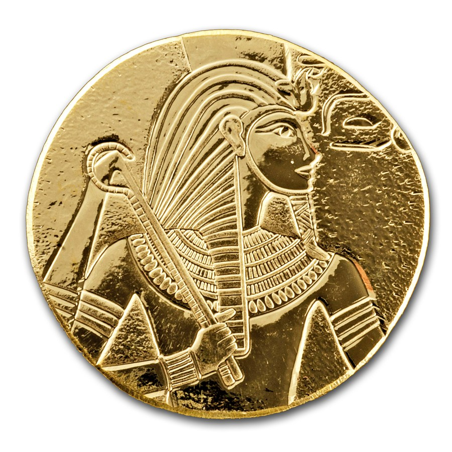 2017 1 Oz Republic Of Chad Egyptian Relic Series King