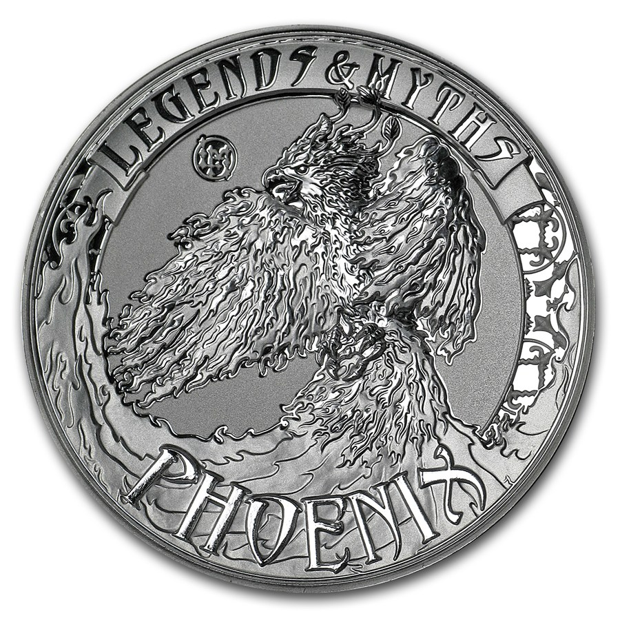 2017 2 Oz Solomon Island Legends And Myths Phoenix 999