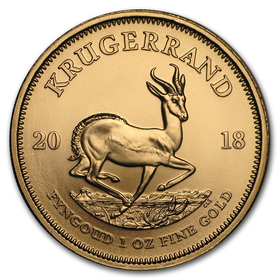 2018 1 Oz South African Krugerrand 9167 Gold Coin Bu Lpm