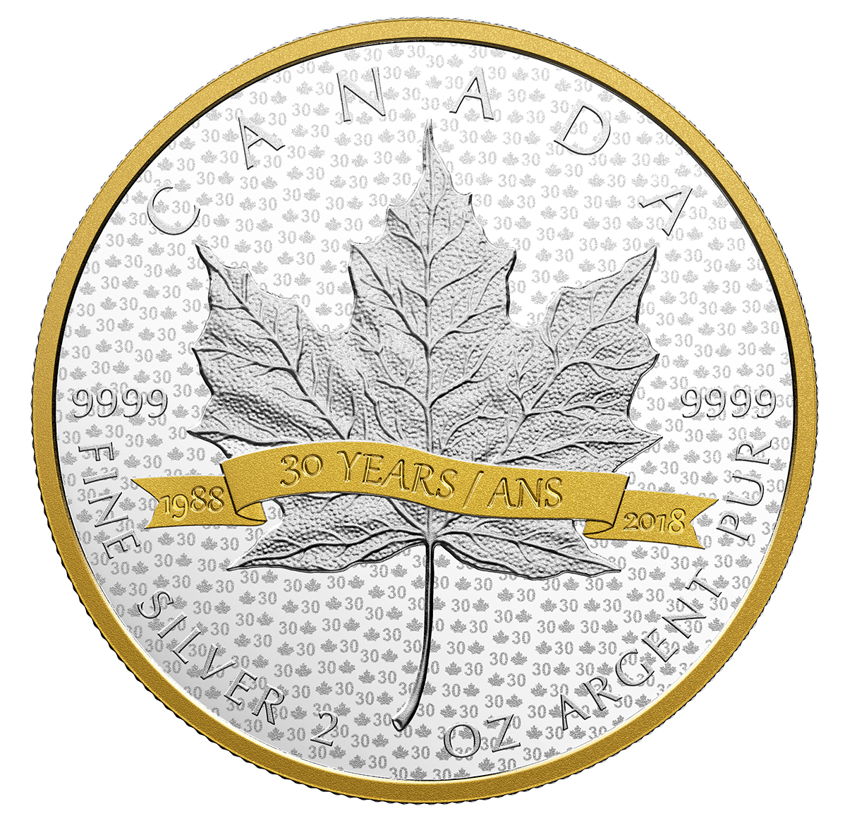 2018 2 Oz Canada Sml Tribute 30 Years 9999 Silver Proof
