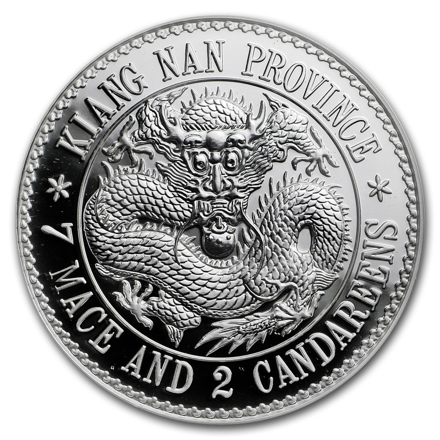 KWANGTUNG DRAGON DOLLAR SILVER RESTRIKE - FINAL RELEASE IN THE SERIES