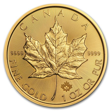 2019 1 oz Canada Maple Leaf .9999 Gold Coin BU