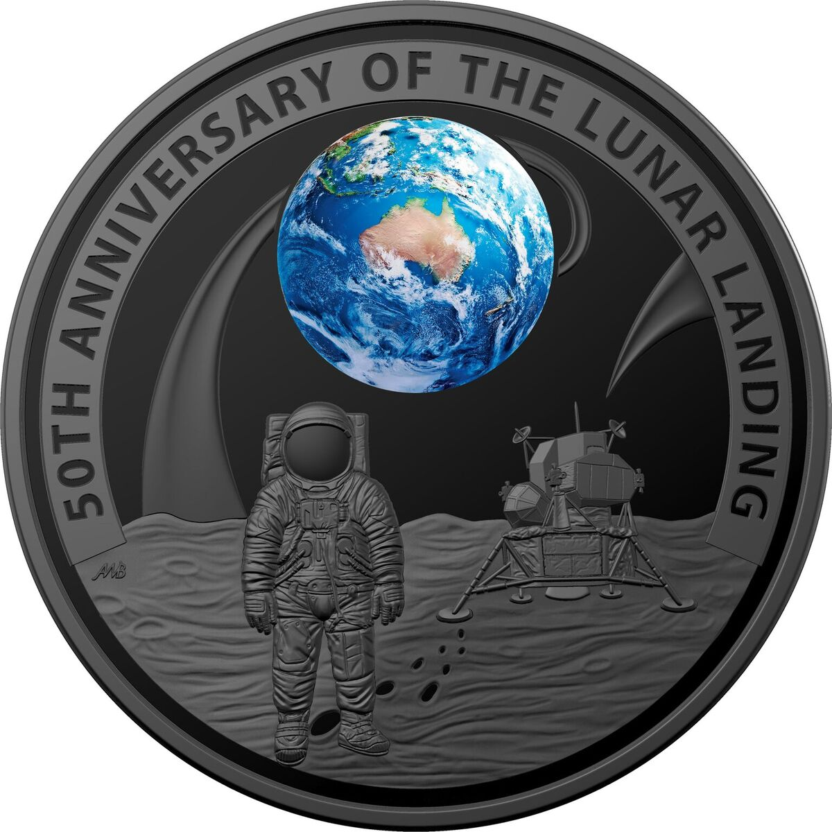 2019 1 Oz Australia 50th Anniversary Of The Lunar Landing
