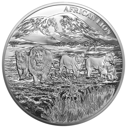 2016 1 Kg Congo African Lion 999 Silver Coin Lpm