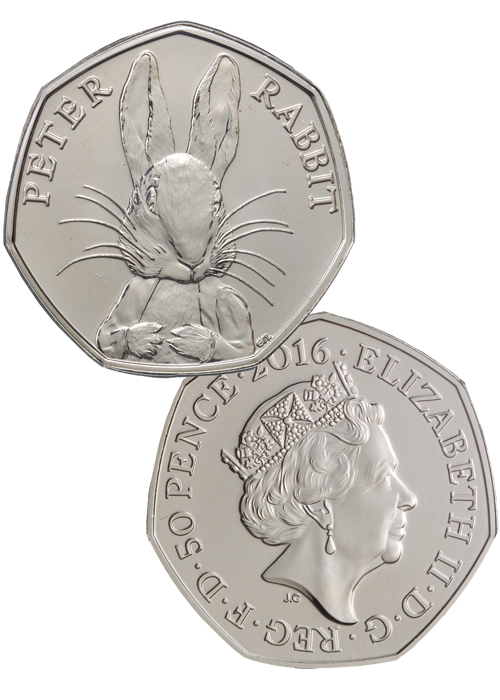 2016 8 Gram Britain Peter Rabbit 150th Anniversary Coin