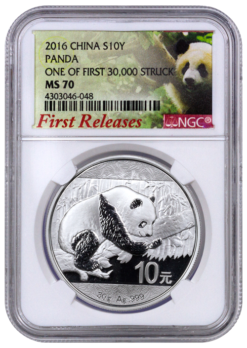 2016 30gram China Panda 999 Silver Coin Ngc Ms70 First