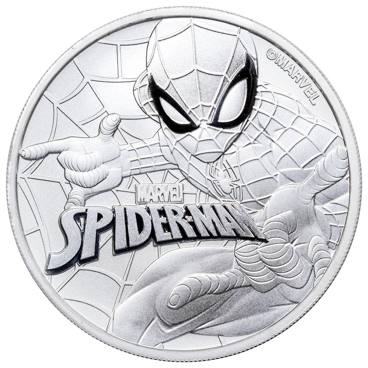 2017 1 Oz Tuvalu Marvel Series Spiderman 9999 Silver