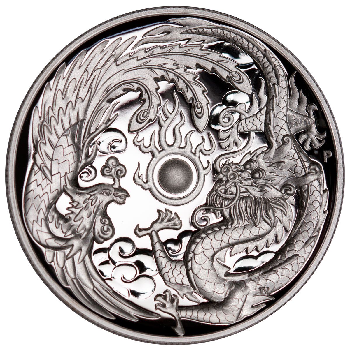 2017 1 Oz Australia Dragon And Phoenix 9999 Silver High