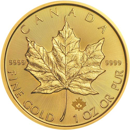 2018 1 Oz Canada Maple Leaf 9999 Gold Coin Bu Lpm