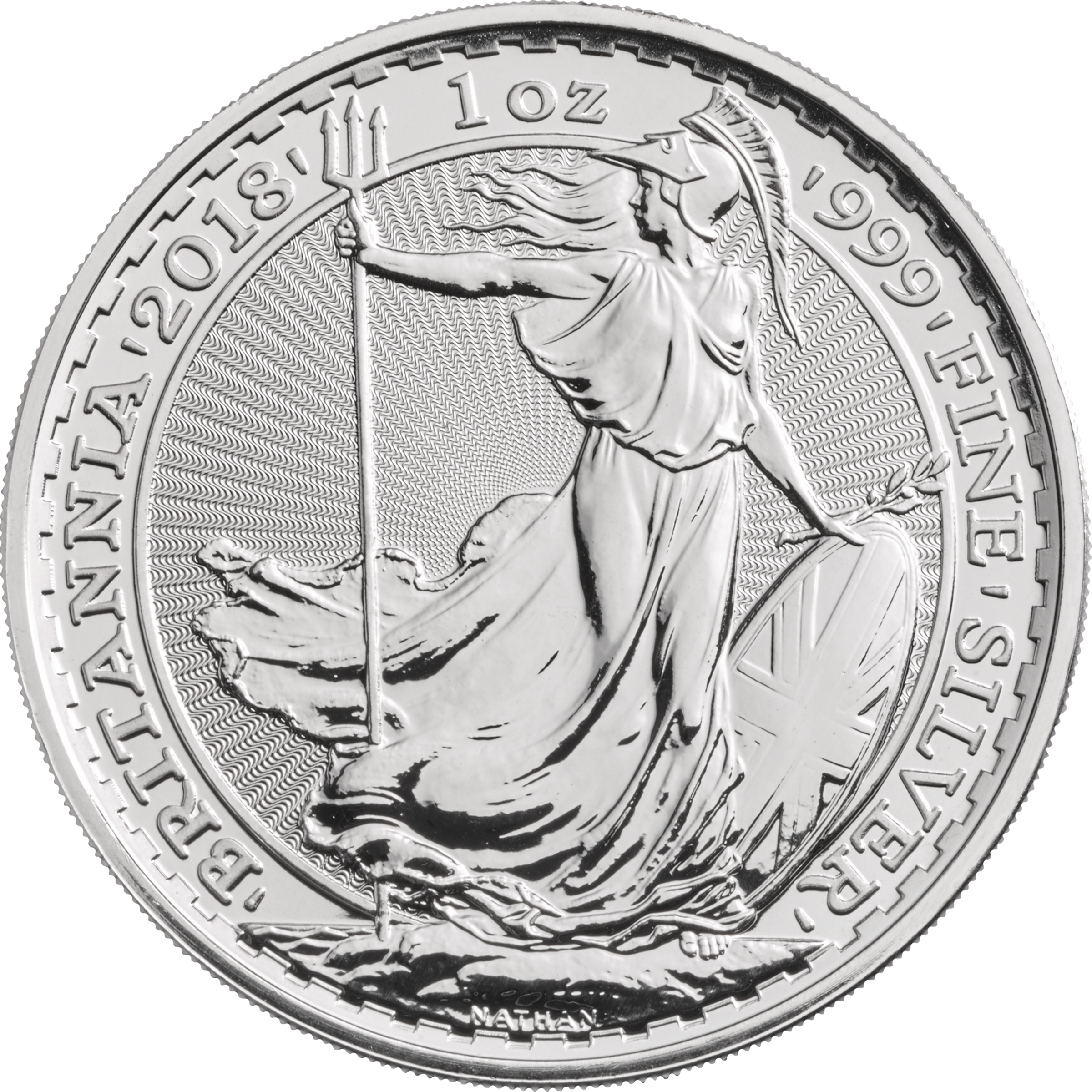 2018 1 Oz Great Britain Britannia 999 Silver Coin Bu Lpm