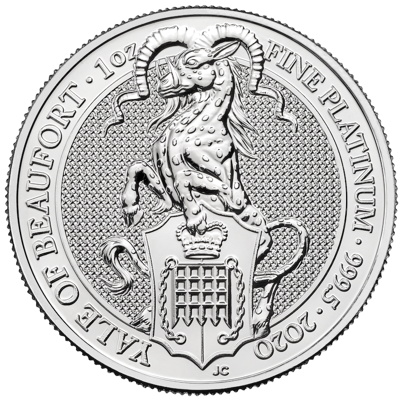 2020 Queen's Beasts Yale - 10oz Silver & 1oz Platinum