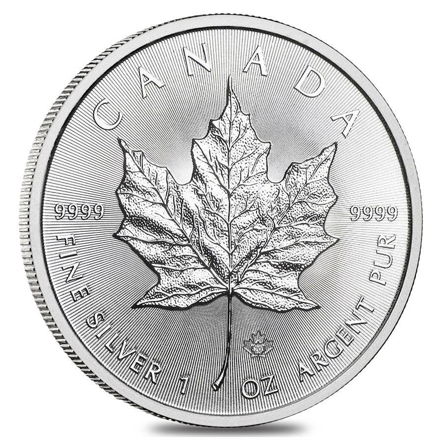 2020 1 oz Canada Maple Leaf .9999 Silver Coin BU