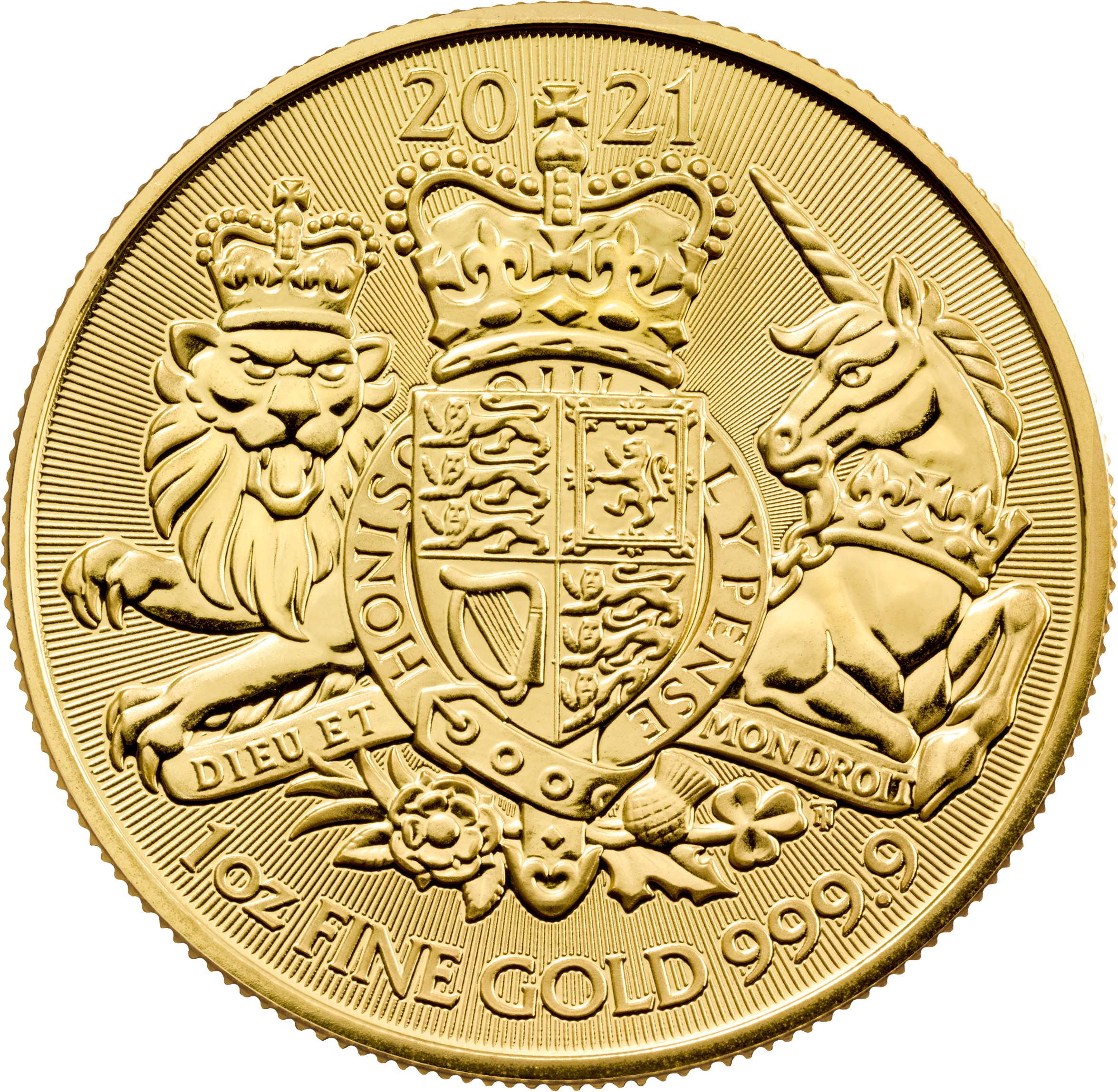 2021 1 oz Great Britain The Royal Arms .9999 Gold Coin BU