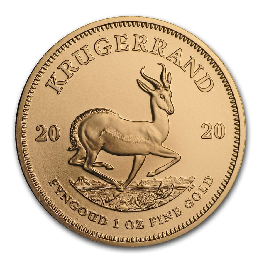 2020 1 oz South African Krugerrand .9167 Gold Coin BU