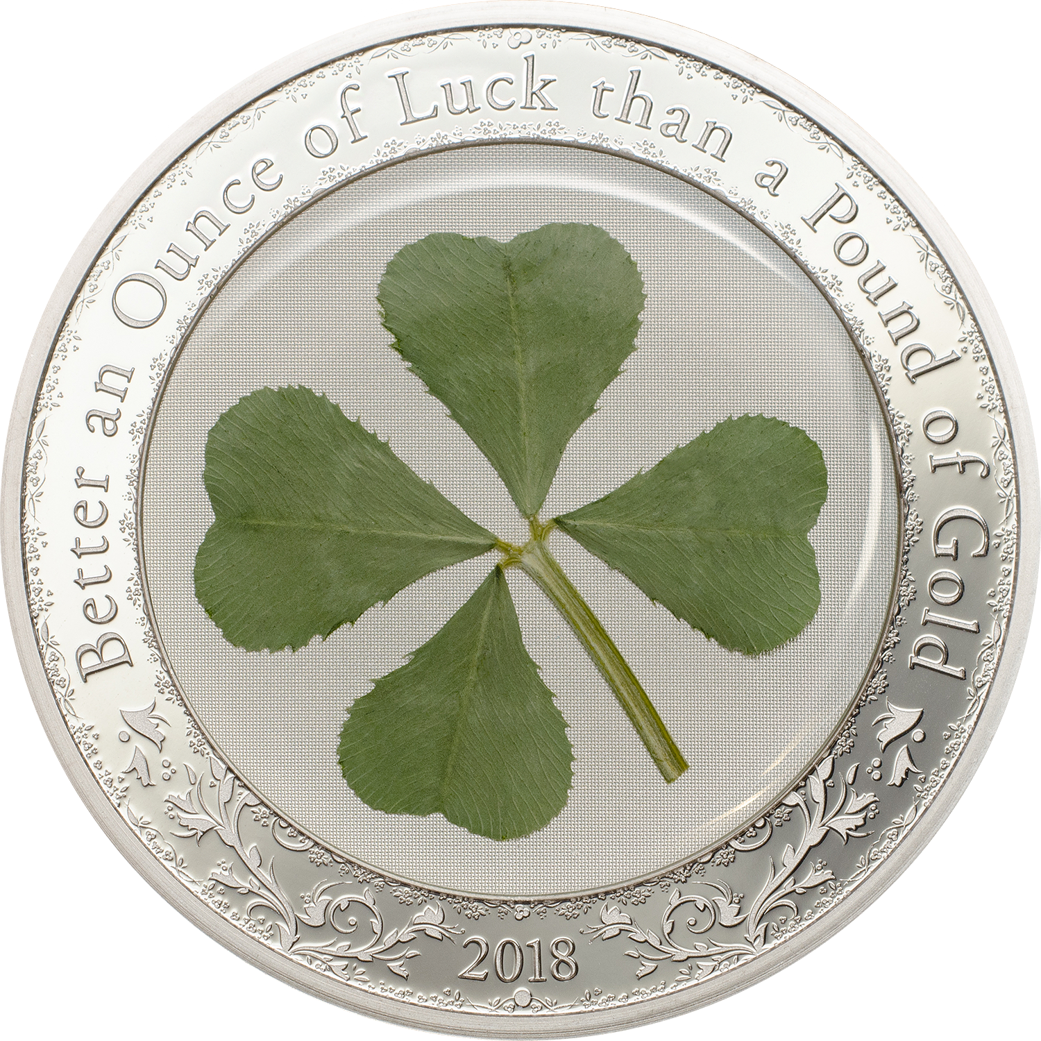 2018 1 Oz Palau Ounce Of Luck 999 Silver Proof Coin Lpm