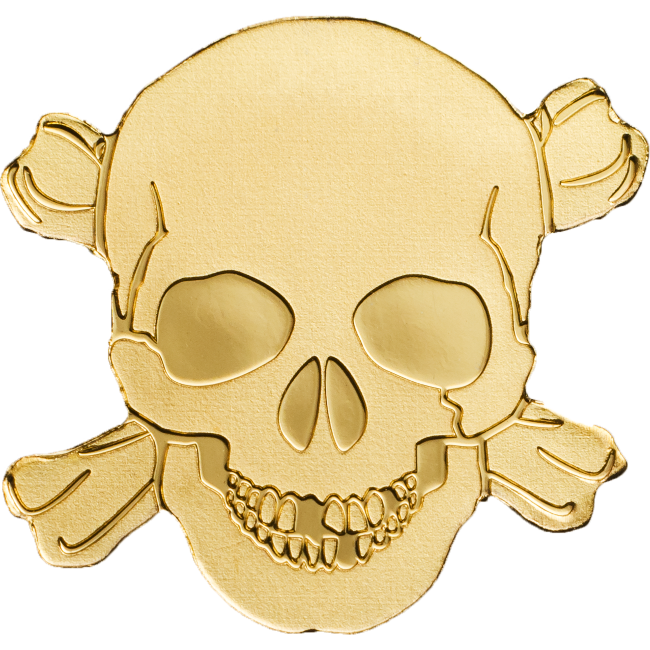 2017 0 5 Gram Palau Golden Pirate Skull 9999 Gold Coin Lpm