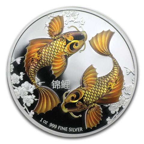 2012 1oz Niue Feng Shui Koi Fish 999 Silver Proof Coin