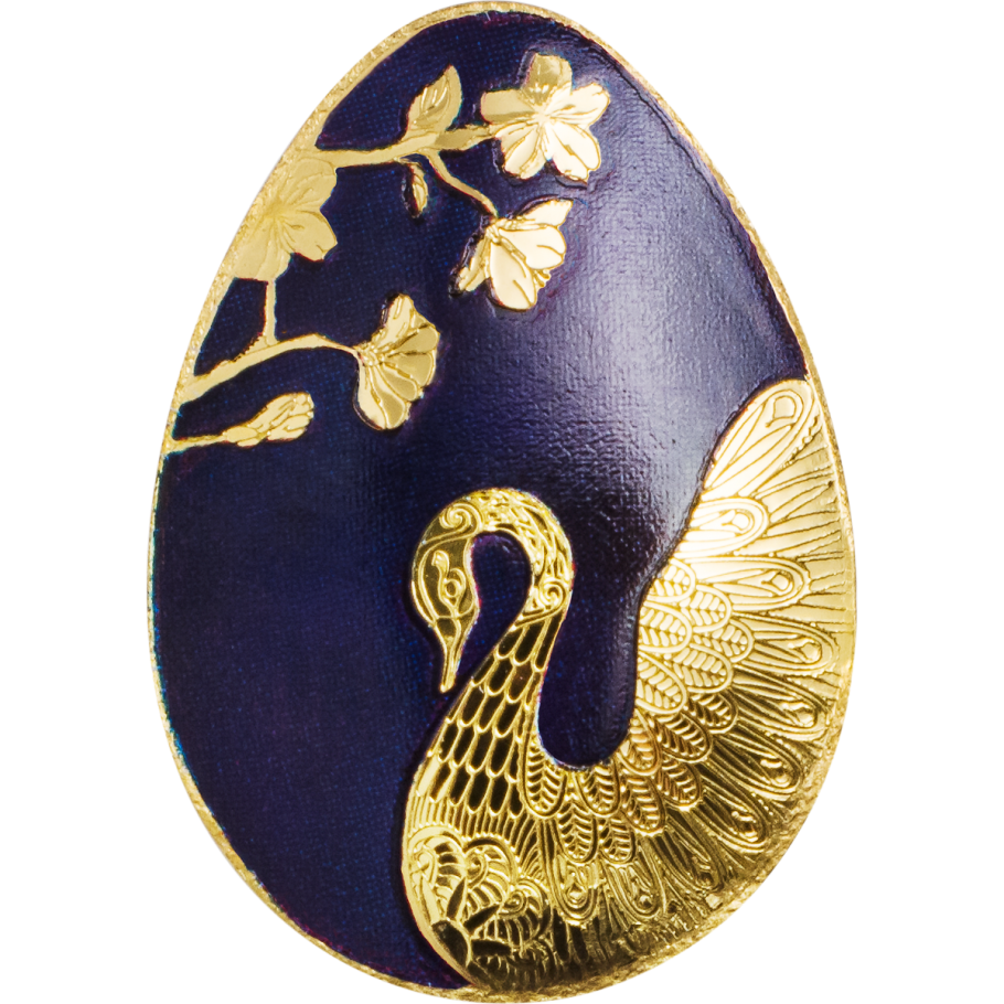 2018 0 5 Gram Palau Golden Swan Egg 9999 Gold Coin Lpm