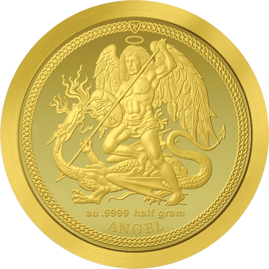 2017 0 5 G Isle Of Man Angel 9999 Gold Proof Coin Lpm