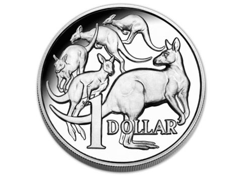 2014 1 Oz Australia Kangaroo 30th Anniversary High Relief