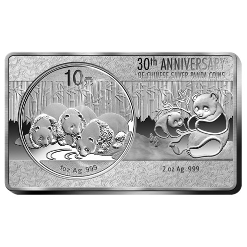 2013 3 Oz China Panda 30th Anniversary 999 Silver Premium