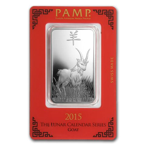 1 Oz Pamp Suisse Year Of The Goat 999 Silver Bar Lpm