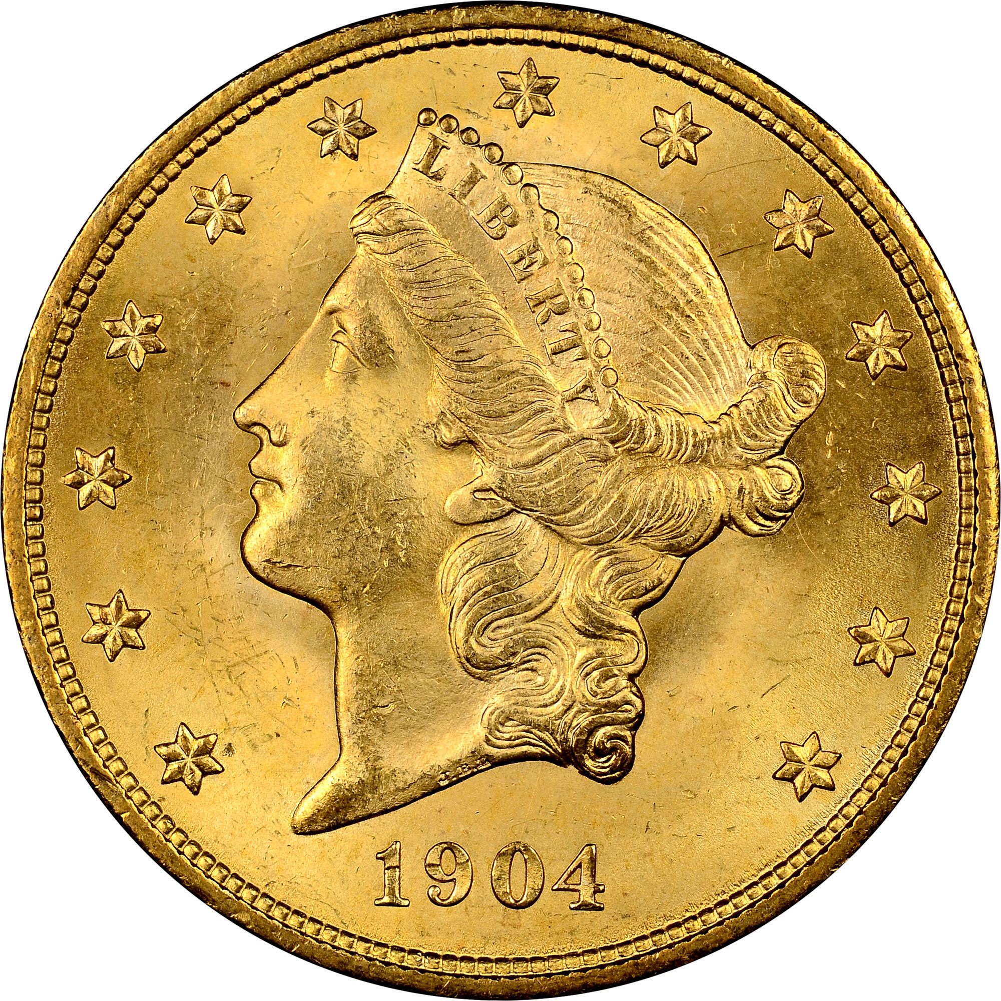 1904 0 9675 Oz America Liberty Head 900 Gold Coin Lpm
