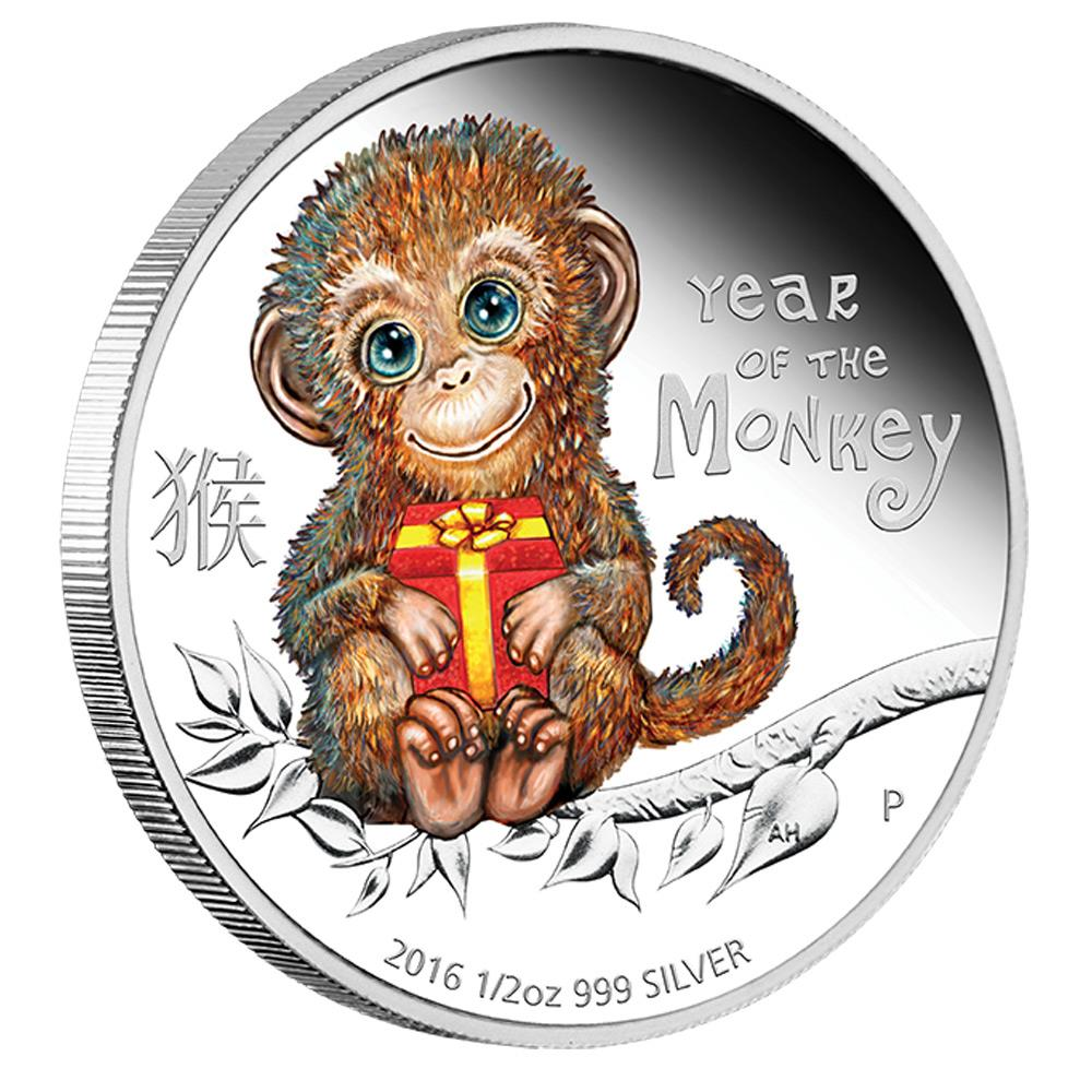 2016 1 2oz Australia Baby Monkey 999 Silver Proof Coin Lpm