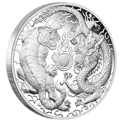 2019 1 Oz Australia Dragon Amp Tiger 9999 Silver Proof Coin