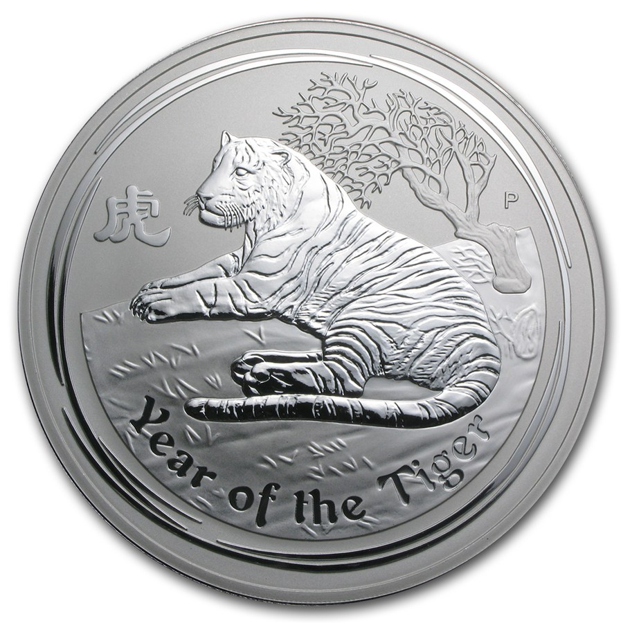 2010 1 Kg Australia Lunar Series Ii Year Of The Tiger
