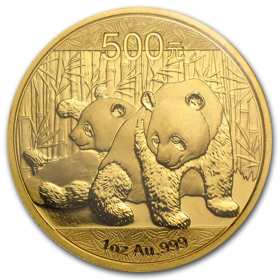 2010 1 Oz China Panda 999 Gold Coin Lpm