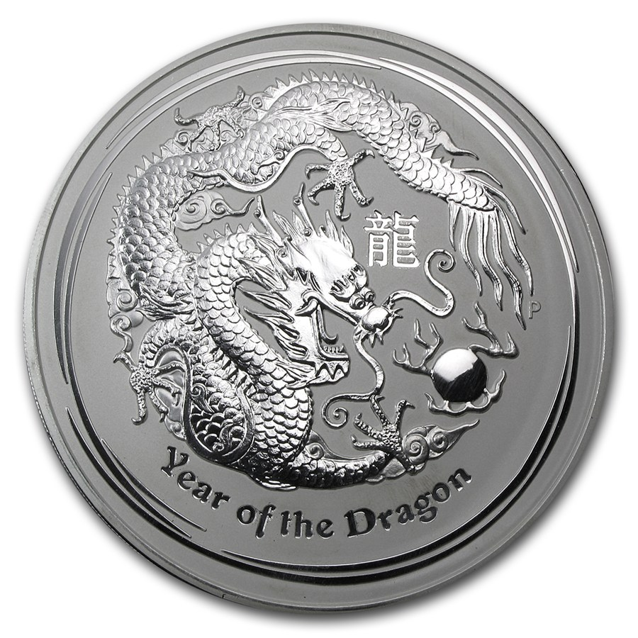 2012 1 Kg Australia Lunar Year Of The Dragon 999 Silver