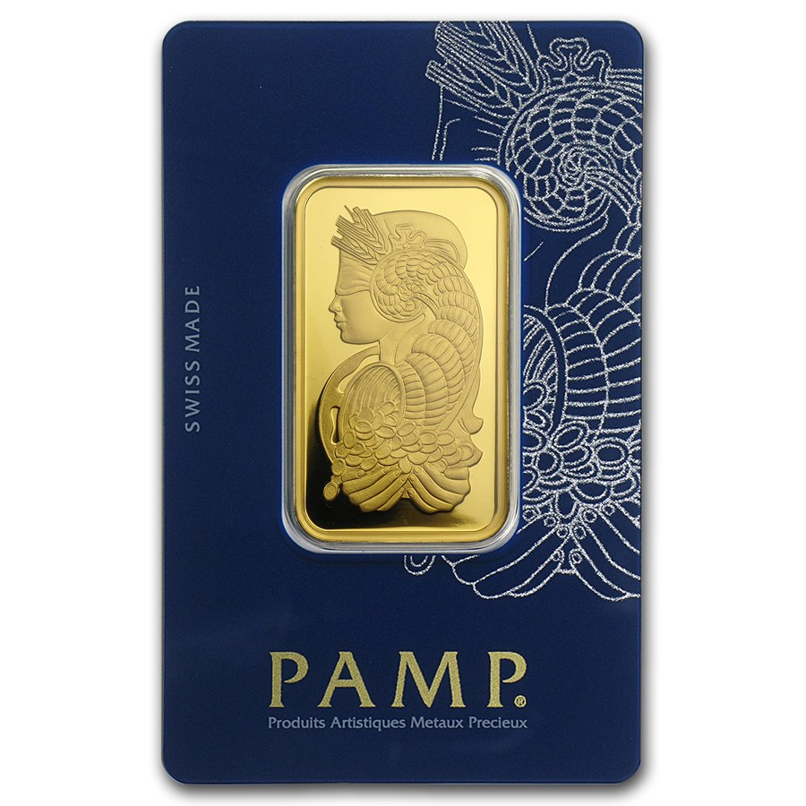 1 Oz Pamp Suisse Lady Fortuna With Veriscan 9999 Gold