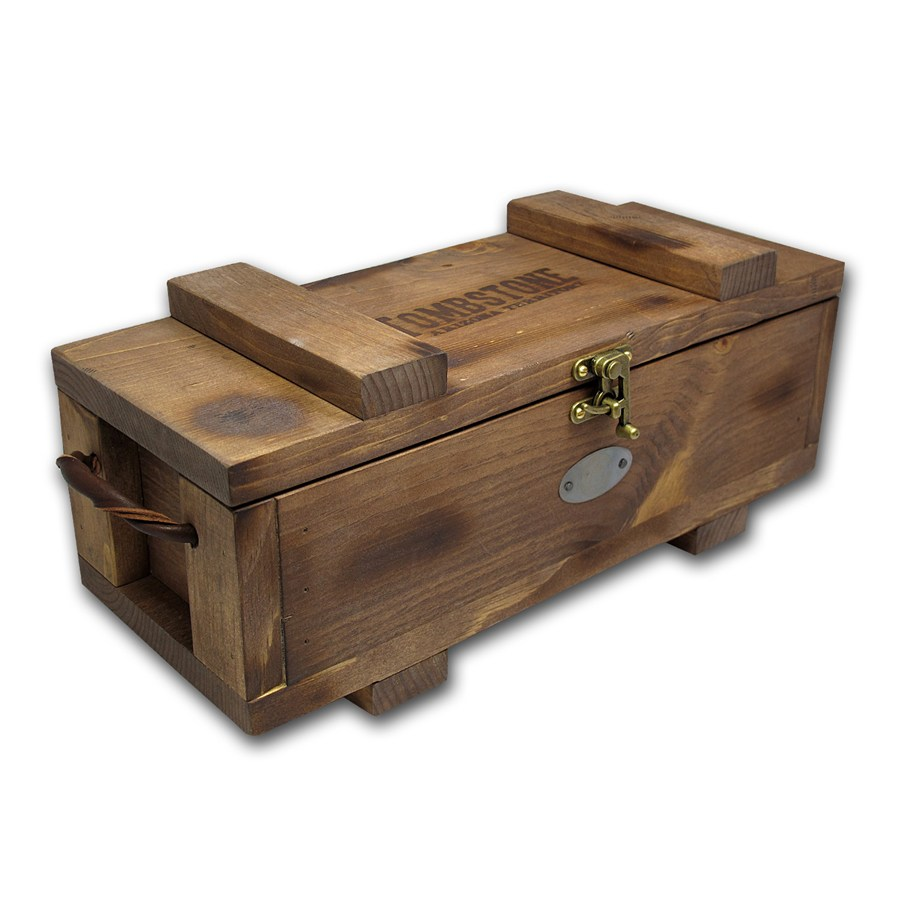 Scottsdale Tombstone Wood Storage Box For Silver Bars Lpm