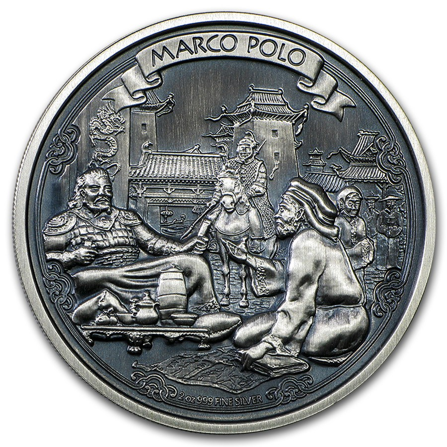 2015 2oz Silver Journeys Of Discovery Marco Polo Proof