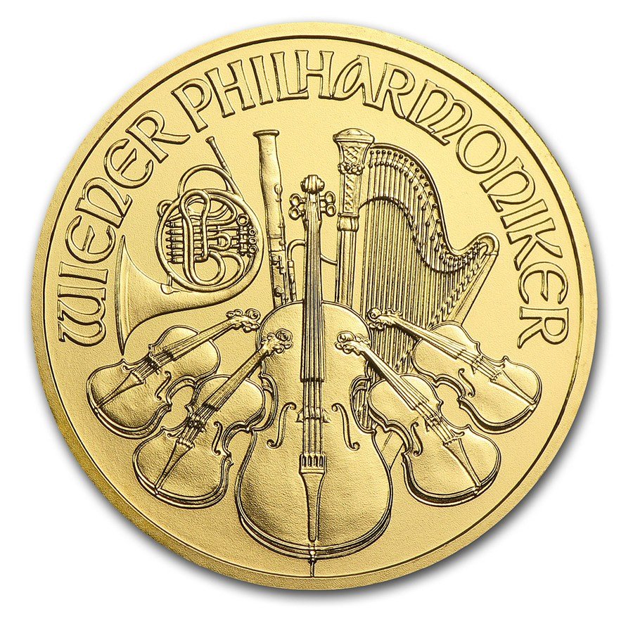 2016 1 Oz Austria Philharmonic 9999 Gold Coin Lpm