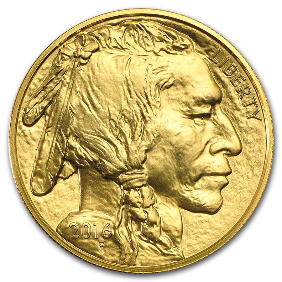 2016 1oz America Buffalo 9999 Gold Coin Lpm