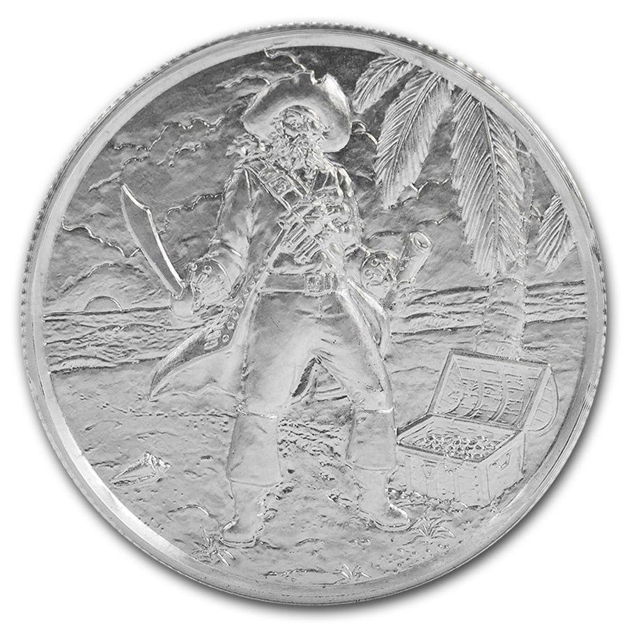 2oz Ultra High Relief 999 Silver Round The Captain