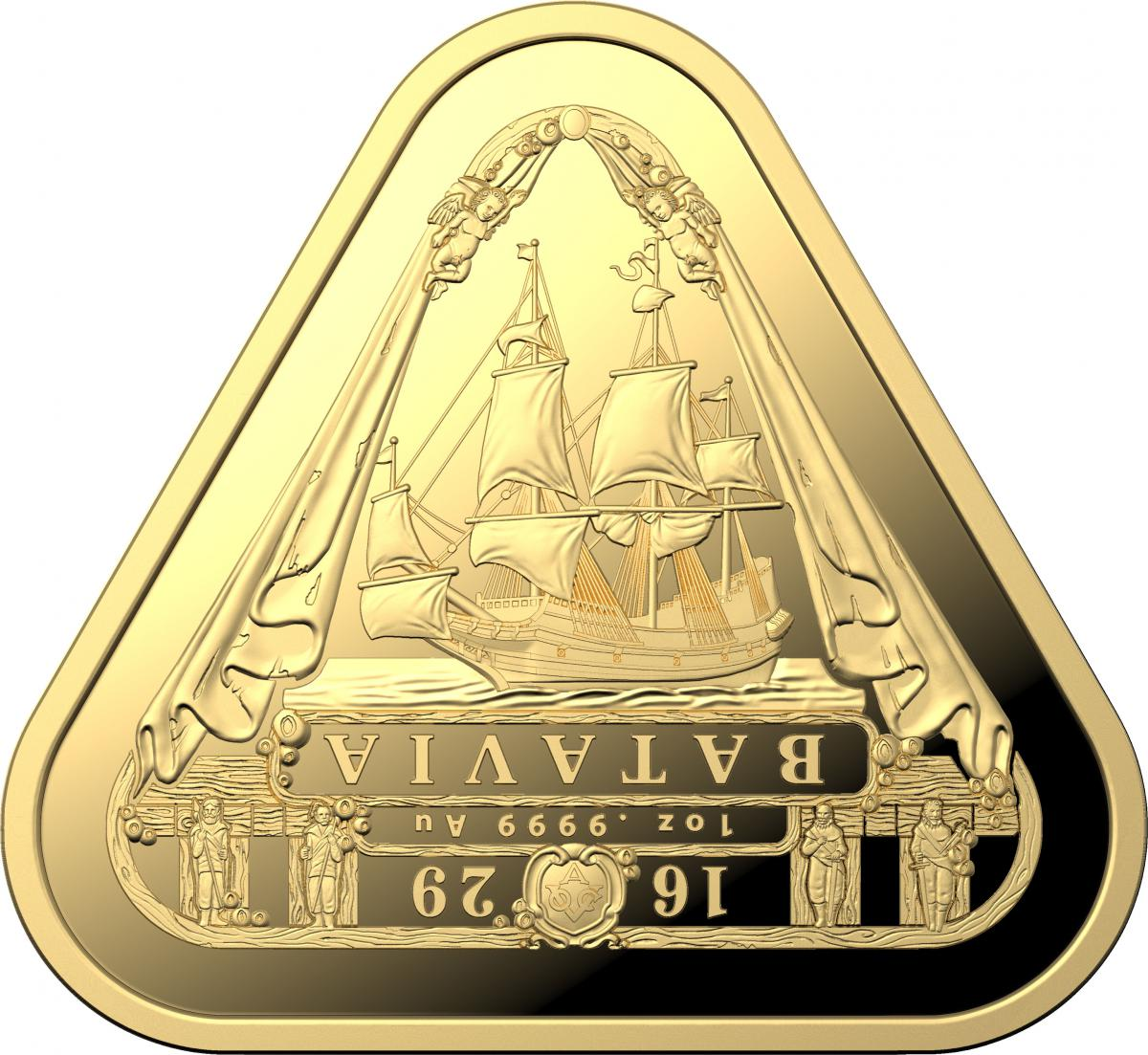 2019 1 oz Australia Triangular - Batavia .9999 Gold Coin BU