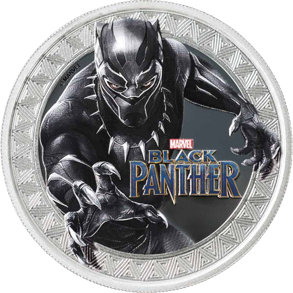 2018 Tuvalu 1 oz .9999 Silver PROOF LIKE Marvel Series Black Panther IN-STOCK!
