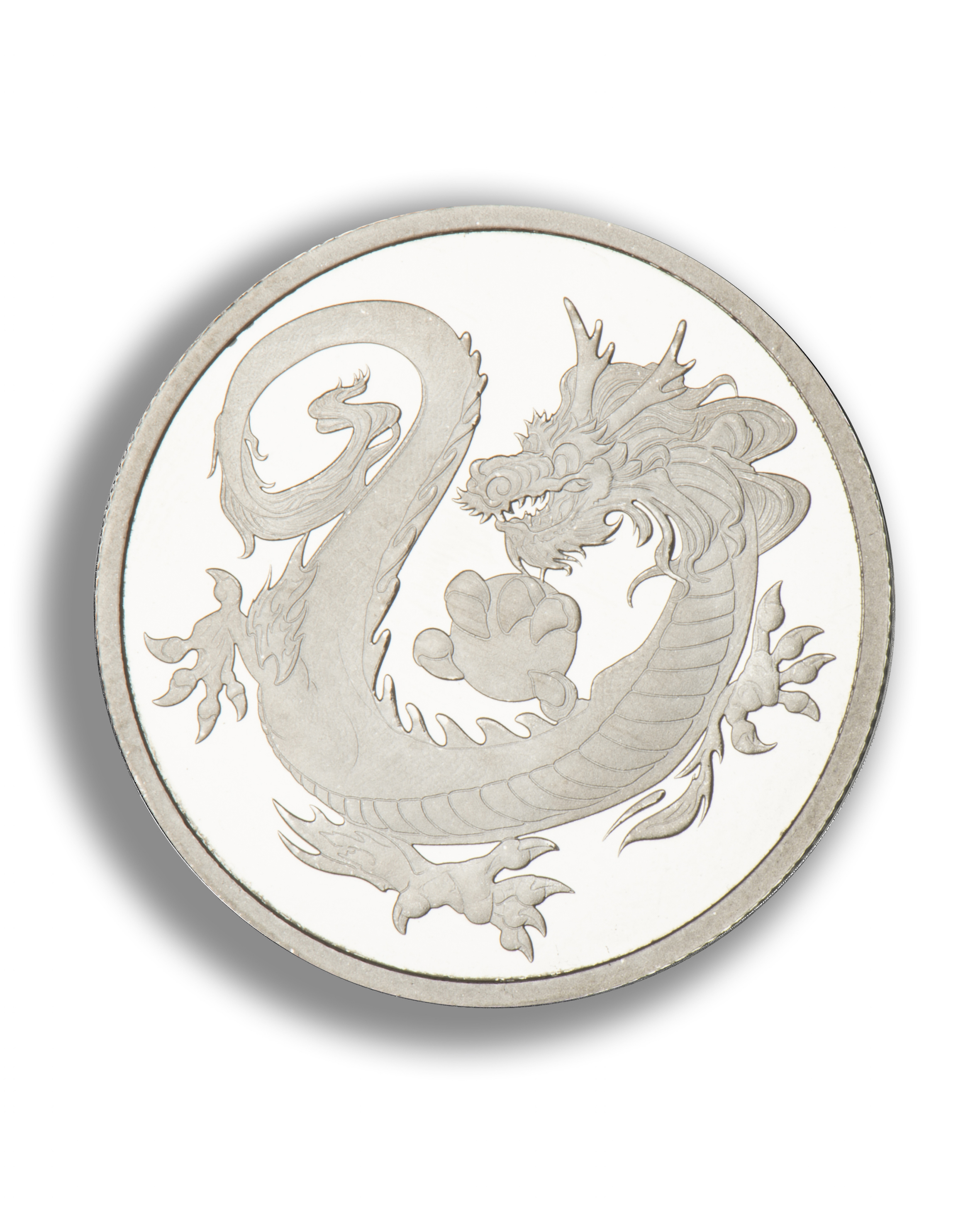 2018 1 Oz Tuvalu Dragon 999 Rhodium Coin Lpm