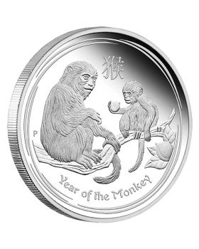2016 1oz Australia Lunar Series II - Year of the Monkey .999 Silver Proof Coin
