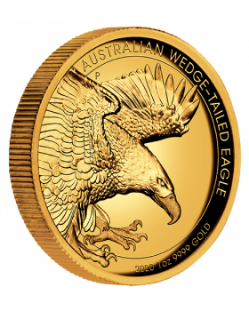 2020 1oz Australian Wedge Tailed Eagle .9999 Gold Proof High Relief Coin